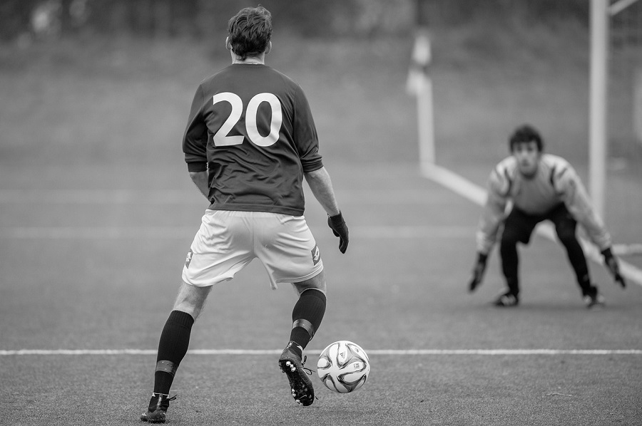 football match photo human reflex